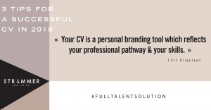 3 tips to make a successful CV