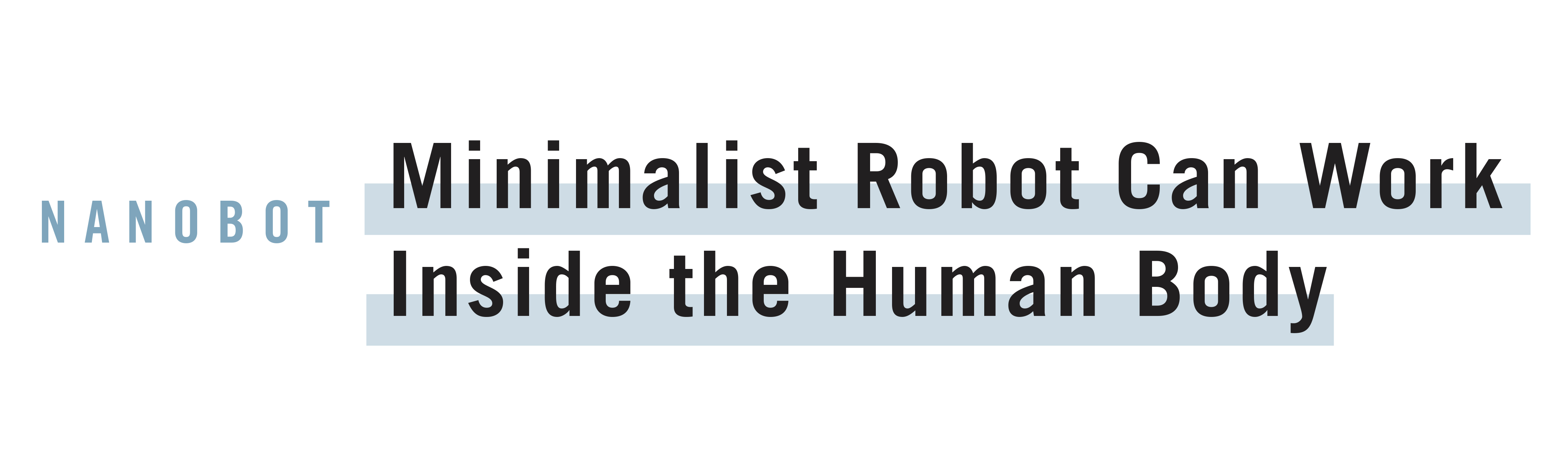 Minimalist Robot