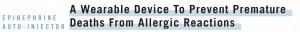 Wearable Epinephrine Auto Injector