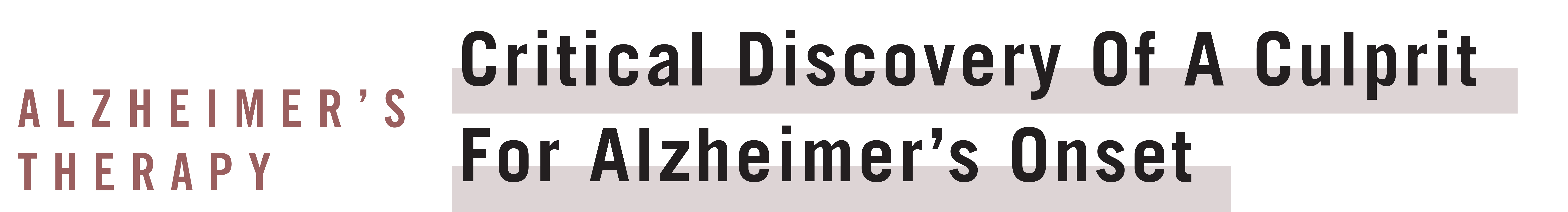 Alzheimer new discovery